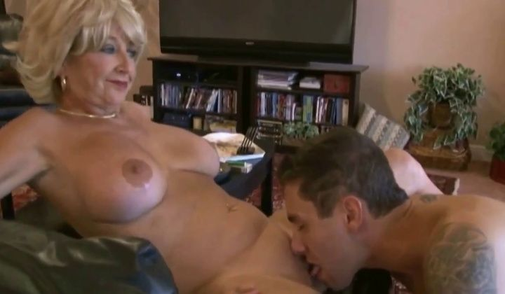 Cumshot - Smoking Old Mature Mom Gets Young Cock